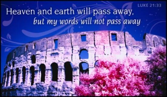Luke 21:33 ecard, online card