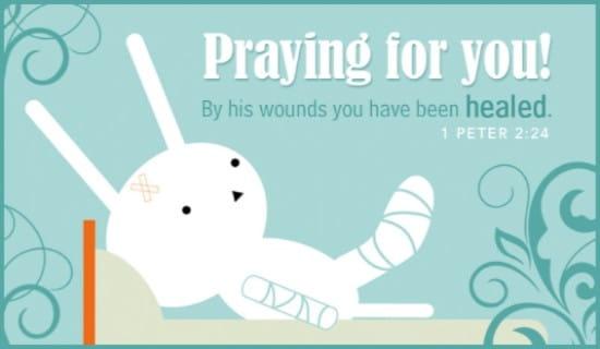 Pray for Healing ecard, online card