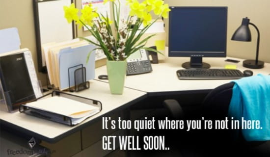 Get Well Soon ecard, online card