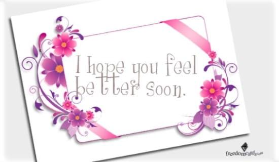 Feel Better Soon! ecard, online card