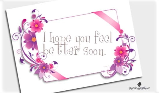 Feel Better Soon! ecard, online card