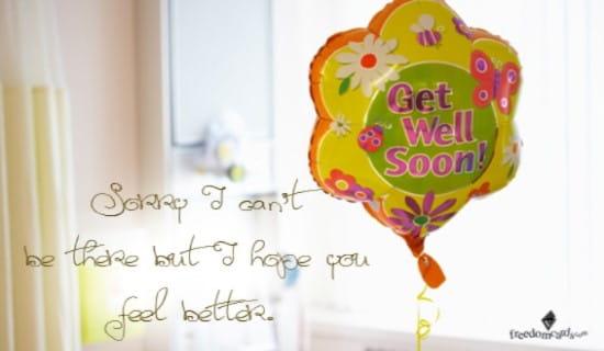 Get Well Soon ecard, online card