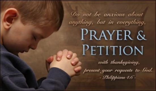 Prayer & Petition ecard, online card