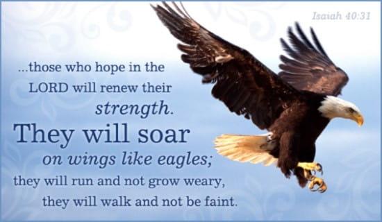 Isaiah 40:31 ecard, online card