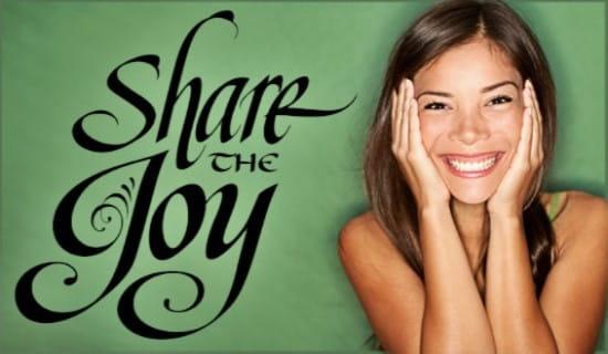 Share the Joy ecard, online card