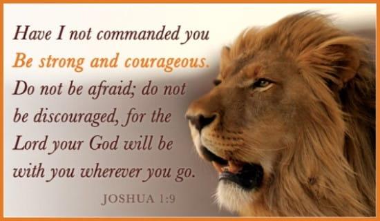 Joshua 1:9 ecard, online card