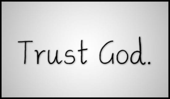 Trust God ecard, online card