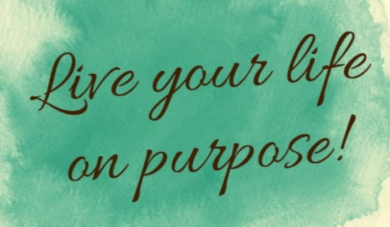Live On Purpose ecard, online card