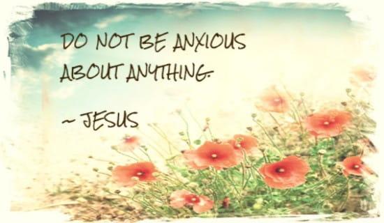 Do Not Be Anxious ecard, online card