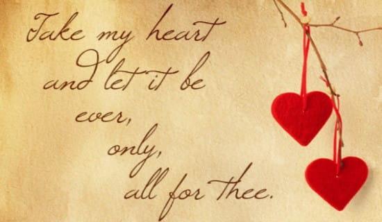 Take My Heart ecard, online card