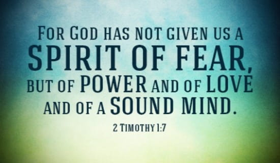 God Has Not Given us a Spirit of Fear ecard, online card