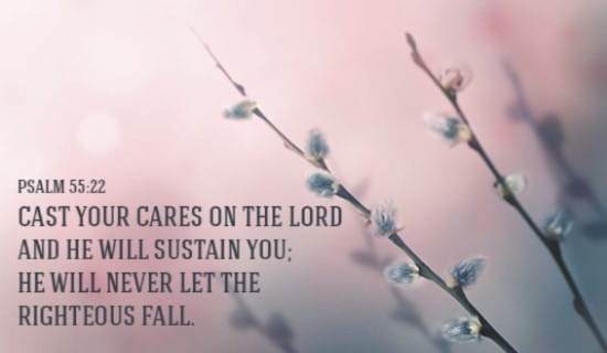 Cast your cares upon the Lord! ecard, online card
