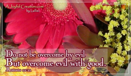 Overcome Evil ecard, online card