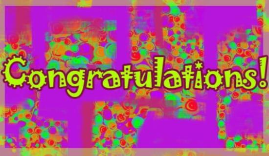 Congratulations ecard, online card