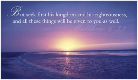 Matthew 6:33 ecard, online card