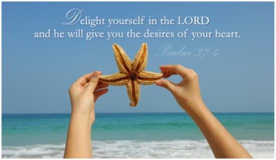 Psalm 37:4 ecard, online card