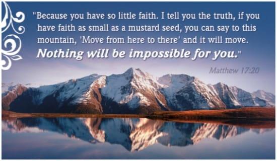 Matthew 17:20 ecard, online card