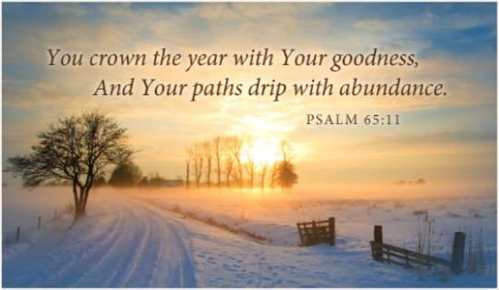 Psalm 65:11 ecard, online card