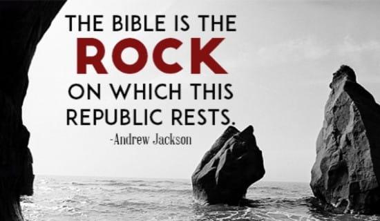 Bible is the Rock ecard, online card