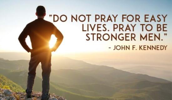 Do Not Pray for Easy Lives ecard, online card