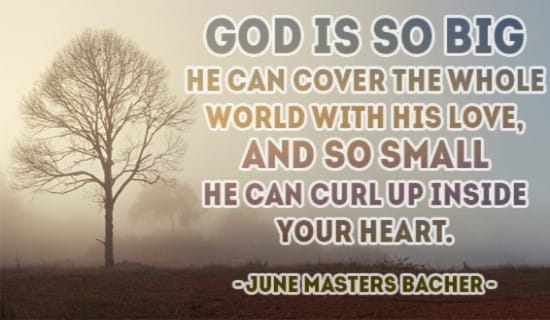 God covers the WHOLE WORLD with His Love ecard, online card