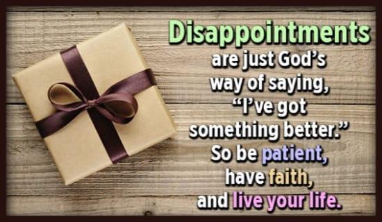 God ALWAYS has something better in store! ecard, online card