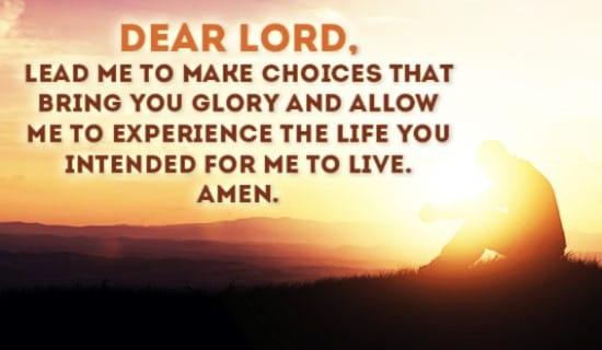 Lead me GOD! ecard, online card