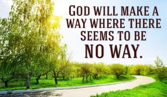 God WILL make a way! ecard, online card
