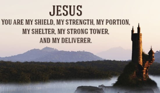 Jesus is my SHIELD! ecard, online card
