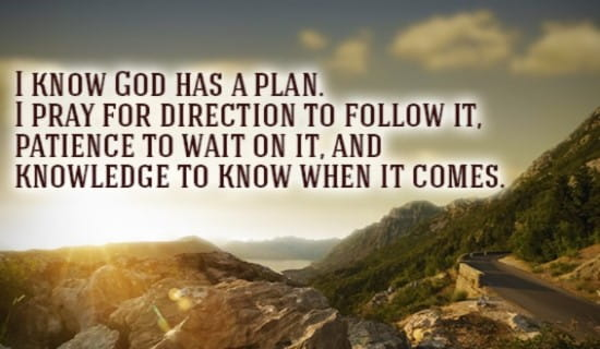 GOD has a plan for you! ecard, online card