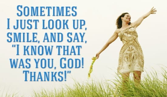 My God Blessed me! ecard, online card