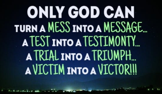 Only God can do EVERYTHING! ecard, online card