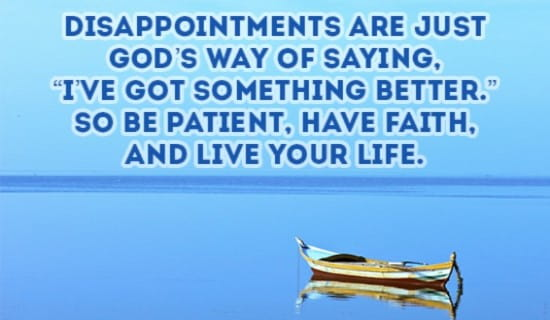 God has something better in mind for you! ecard, online card