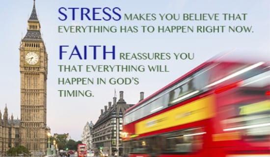 Don't Stress, GOD'S got your back! ecard, online card