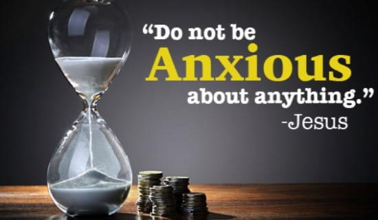 Don't be ANXIOUS, God's got your back! ecard, online card