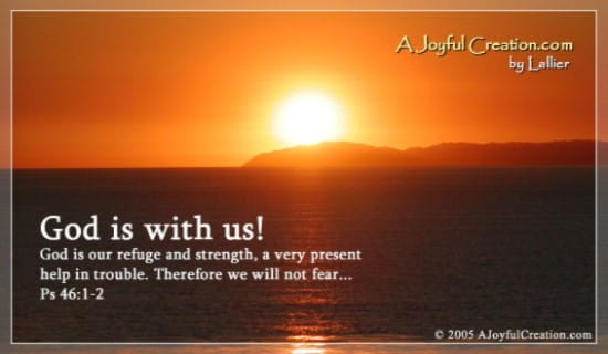 God is with us ecard, online card