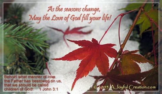 Seasons Change ecard, online card