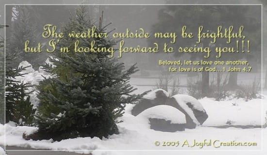 Weather Outside ecard, online card