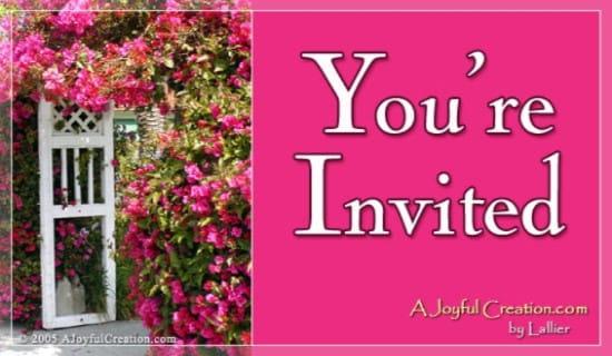Invitation ecard, online card