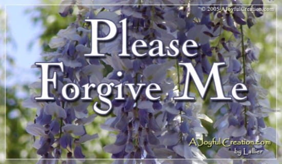 Forgive Me ecard, online card