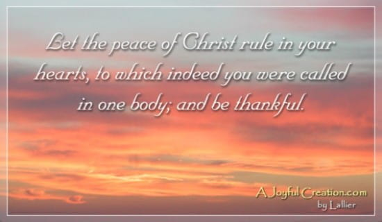 Colossians 3:15 ecard, online card