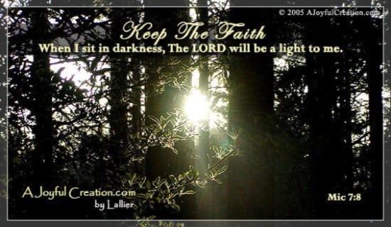 Keep the Faith ecard, online card