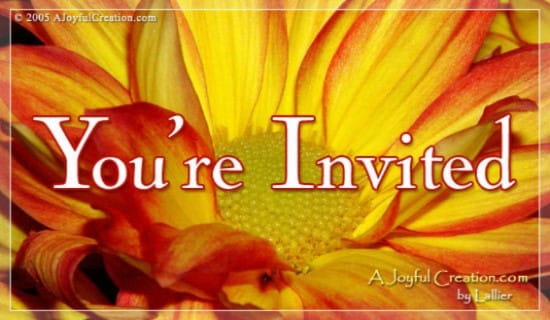 You're Invited! ecard, online card
