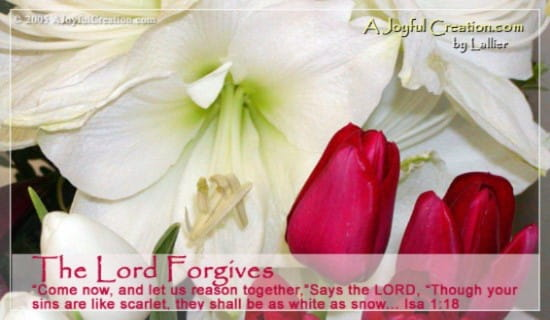 The Lord Forgives ecard, online card