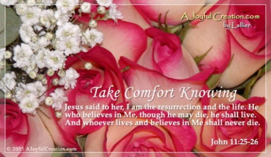 Take Comfort ecard, online card