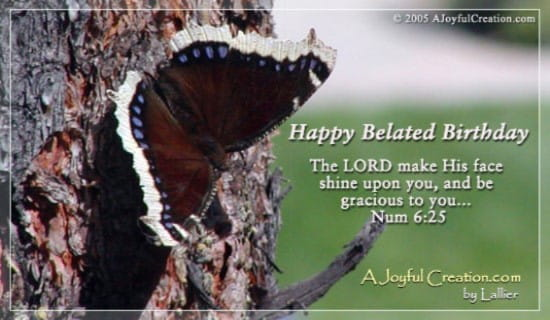 Happy Belated ecard, online card