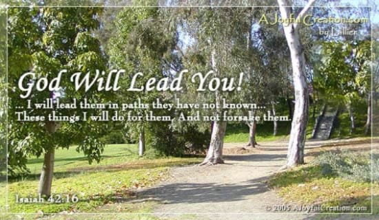 God Will Lead You ecard, online card