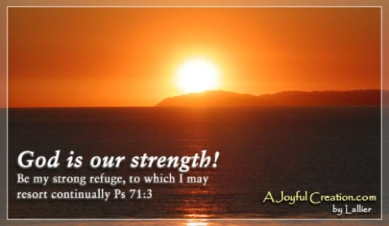 God Our Strength ecard, online card