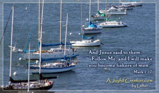 Fishers of Men - Mark 1:17 ecard, online card