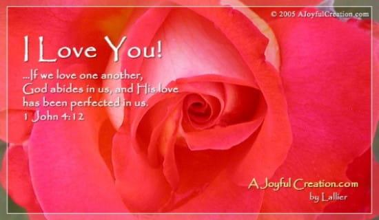 Love You ecard, online card